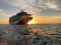 Cabo sunrise and Ruby Princess