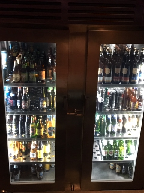 Here's the bottle selection at the brewpub.  Nice!