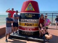 we walked to the most southernmost point to take a photo.  bring bug spray