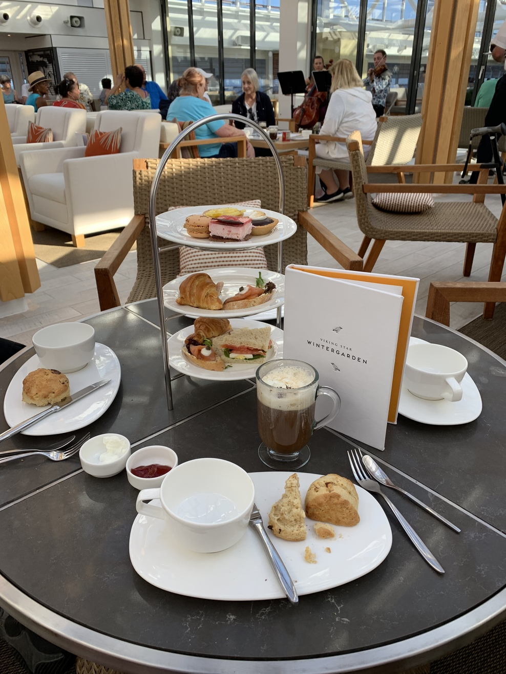 High tea in Wintergarden