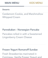 'Frozen' night's specialty dessert