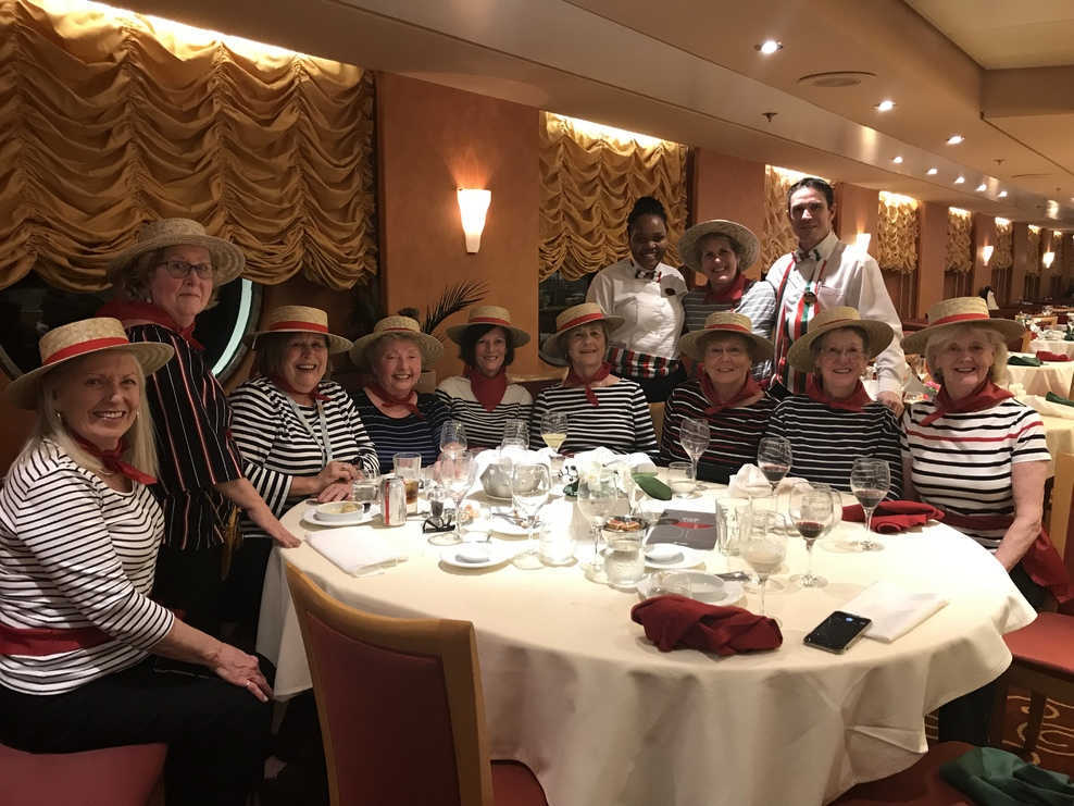 Italian night we dressyas Gondoliers