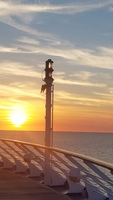 Sunset captured from deck of ship