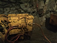 Mine tour in Juneau, this is one of the machines they used.
