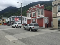 The town of Skagway. I remember I ate a donut here, it was quite good!