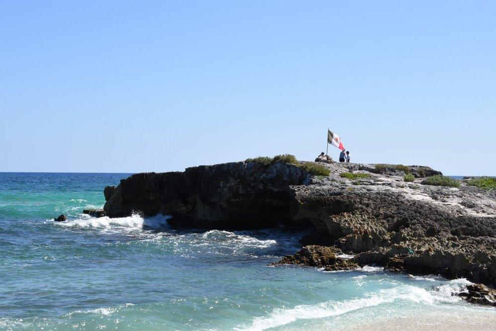 More rock formations along the coast at Cozumel.