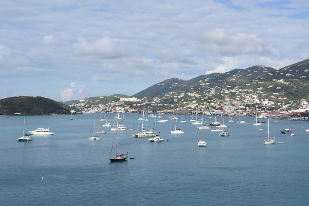 The bay at St. Thomas, my favorite port of call.