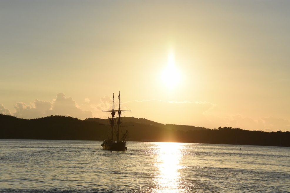 One of my best shots during the entire trip, this smaller sailing ship was