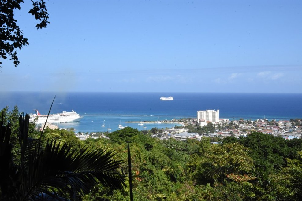 Overlooking Ocho Rios from the Konoko Falls overlook.