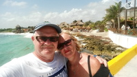 Costa Maya, Mexico, enjoying the sun and sea
