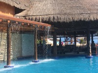 Costa Maya, Mexico Swim Up Bar.