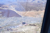 This is the view from the cable car that took us up Mt Teide
