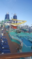 """Water Park"" on pool deck (15): the slides were fun!"