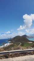 Two oceans in one picture on St. Kitts.