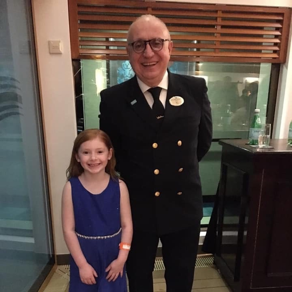 Lily meets the Captain at his cocktail reception.