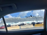 Ship at Port of Miami upon my arrival first day