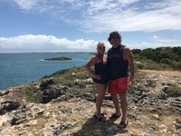 Mountain top in Antigua, overlooking the Atlantic Ocean