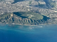 Diamond Head from our plane