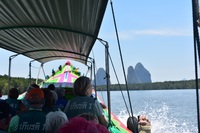 Excursion to James bond Island Phuket viewing no landing. Type of long boat