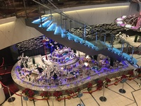 Atrium with Christmas decorations