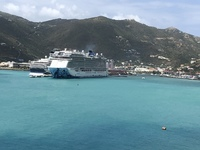 A view of our grand ship in Tortola