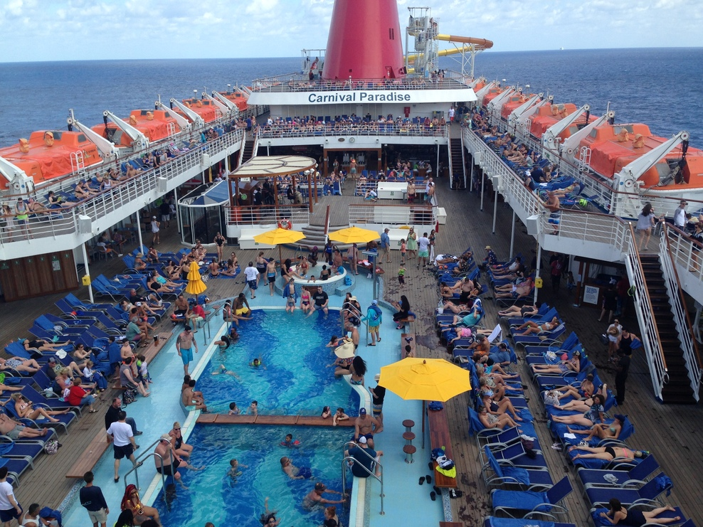 Pool, Spa, Fitness On Carnival Paradise Cruise Ship