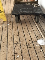 Promenade deck - debris made it dangerous for walking