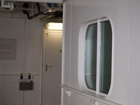 Outside of window to cabin 3300