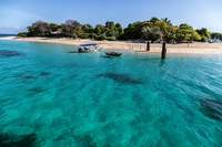 This is a view from Amiga Island, an excursion booked woth RC on Labadee