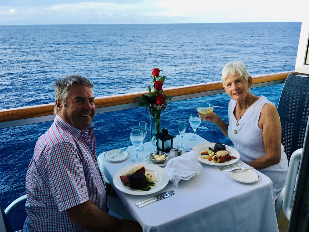 Our family shouted us the Ultimate Balcony dining experience for our annive