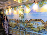 A mural in the buffet dining area