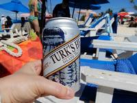 Beers on the beach, Grand Turk.