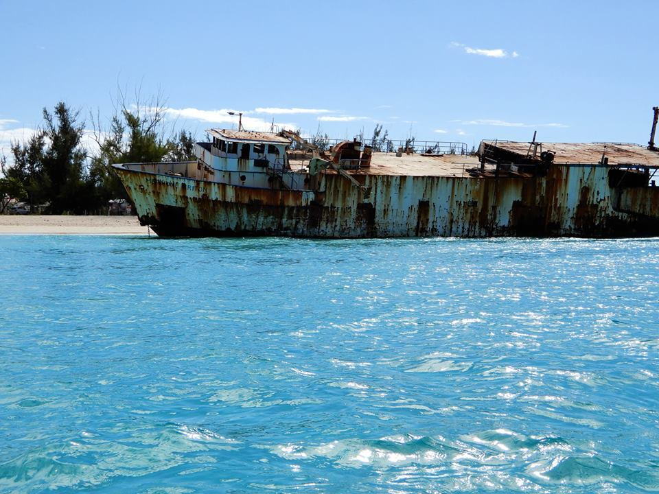 Wreck in Governor's Bay, Grand Turk.