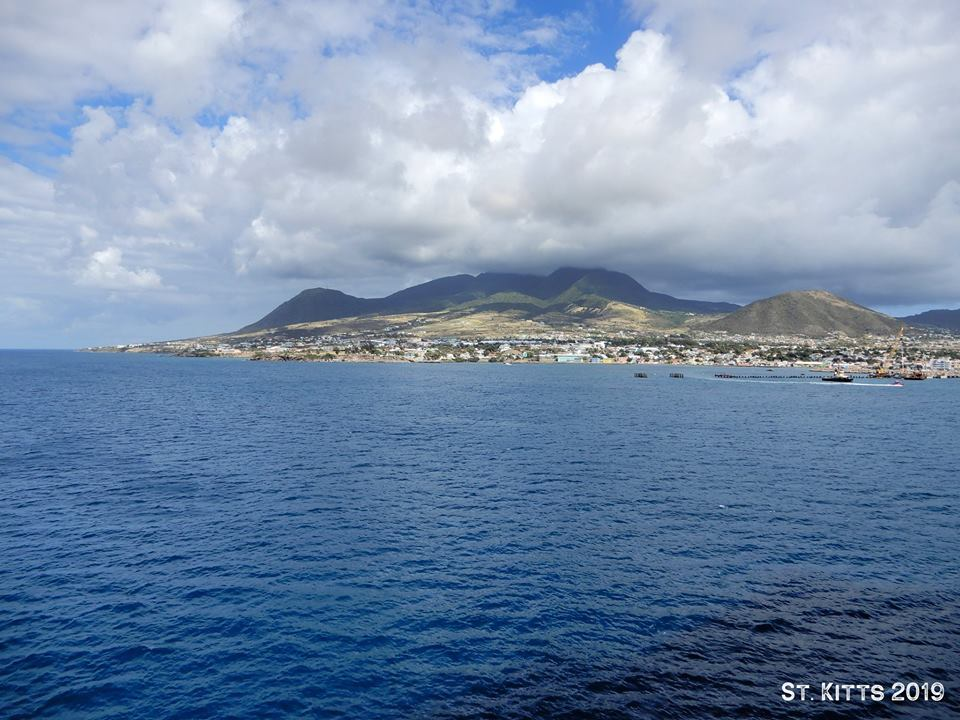 St. Kitts harbor cabin view.