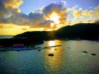 Morning sun rising at Labadee