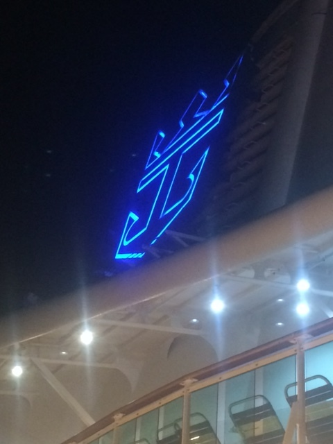 Logo at night