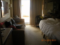cabin M105..misleading mini suite..one big room..not separate as shown on t