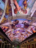 LED display...constantly changing...Sistine Chapel theme