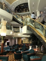 Start of the cruise, stairway up to reception