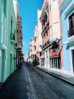 Walking around Old San Juan.