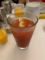 A Bloody Mary at breakfast.  No celery!  Just one example of the cheap cost