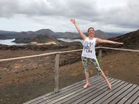 Ohmmmmm  Bartolomeo island lookout perfect for some Equilibrium Pilates before afternoon snorkeling with sea lions.
