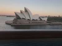Sydney Opera house from the balcony