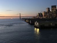Coming into San Francisco Bay when returning from the cruise.  Bay Bridge o