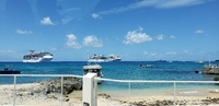 The ship docked at the last stop - Grand Cayman.