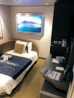 Interior cabin. The above head LED screen is pretty cool, it shows you the