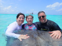 Cayman Islands stingray city.