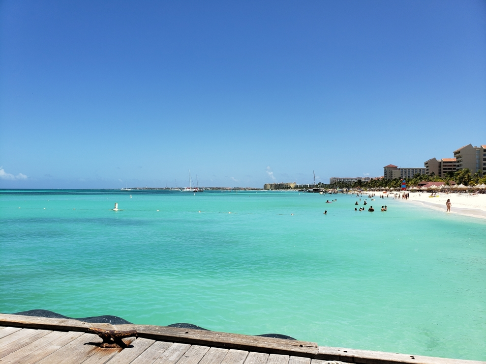 The beach at Aruba