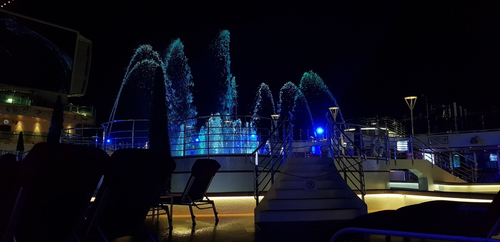 Fountain on the ship