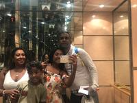 Our first photo as a family onboard MSC Musica